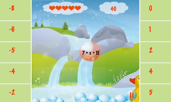 Learn Algebra Bubble Bath Game - screenshot