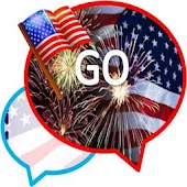 GO SMS THEME/july4th