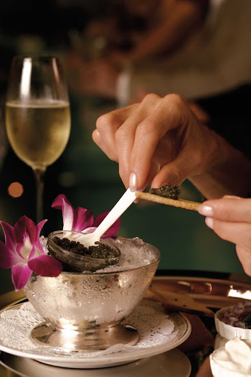 Caviar served during a Regent Seven Seas dining experience.