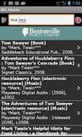 Screenshot of Bentonville Library Mobile