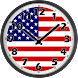 USA Flag Analog Clock