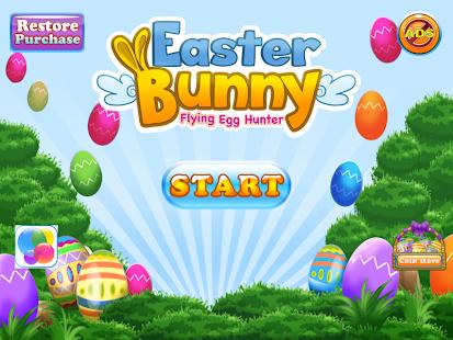 Easter Bunny Flying Egg Hunter