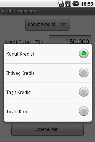 Kredi Hesaplama - screenshot