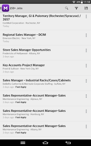 Monster Job Search Screenshot