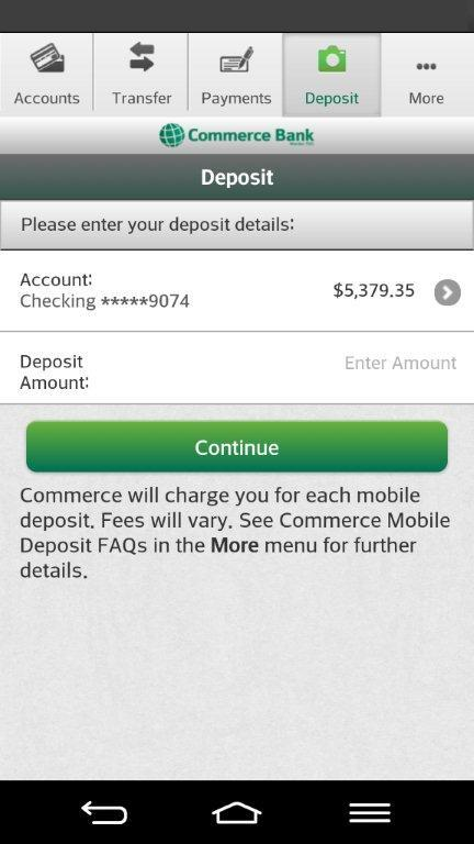 Commerce Bank for Android - screenshot