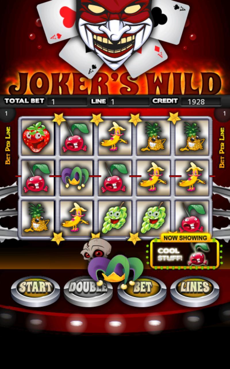 Jokers Wild Slot Machine HD screenshot #1