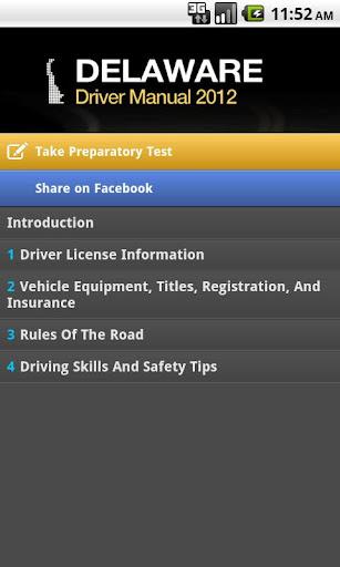 Delaware Driver Manual Free