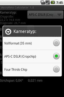 Astrophoto Calculator- screenshot thumbnail
