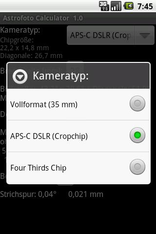 Astrophoto Calculator- screenshot