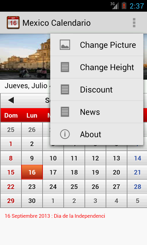 Mexico Calendario 2014 - screenshot