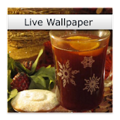 Christmas Wine Live Wallpaper