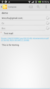 Mobile Access for Outlook OWA Screenshot