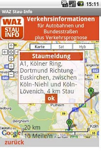 WAZ Stau-Info - screenshot thumbnail