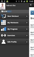 Screenshot of Gymwolf Workout Tracker