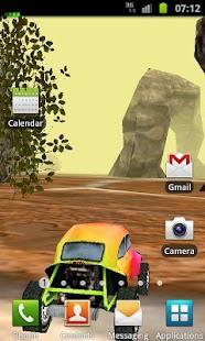 3D Car Racing Rocky Landscape - screenshot thumbnail