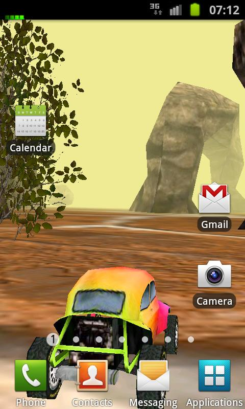 3D Car Racing Rocky Landscape - screenshot