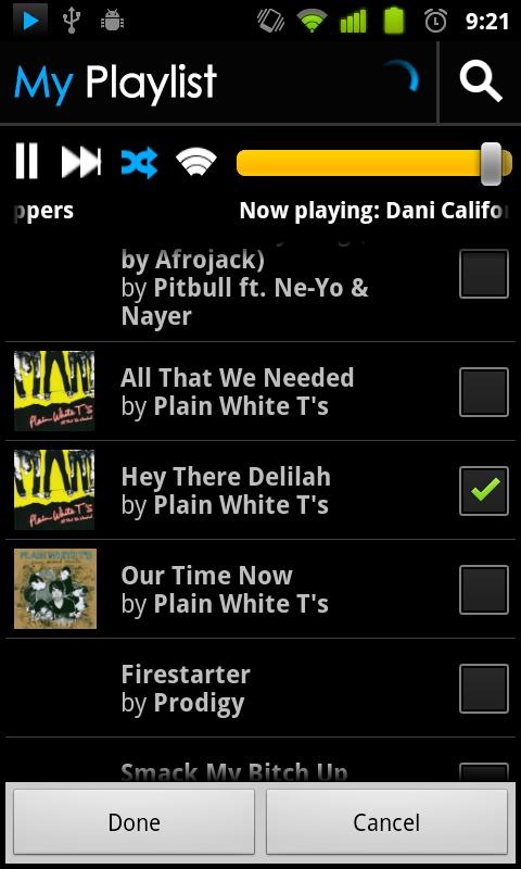 BluePlaylist Music Player- screenshot