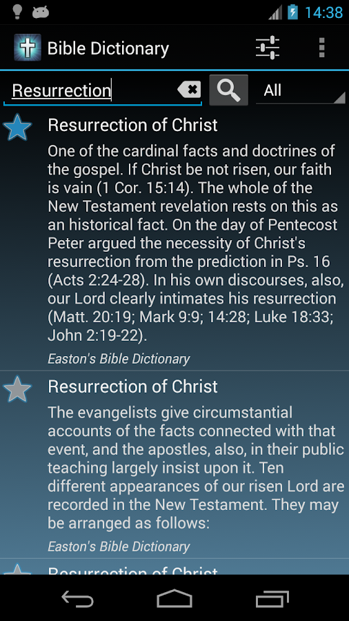The Bible Dictionary - screenshot