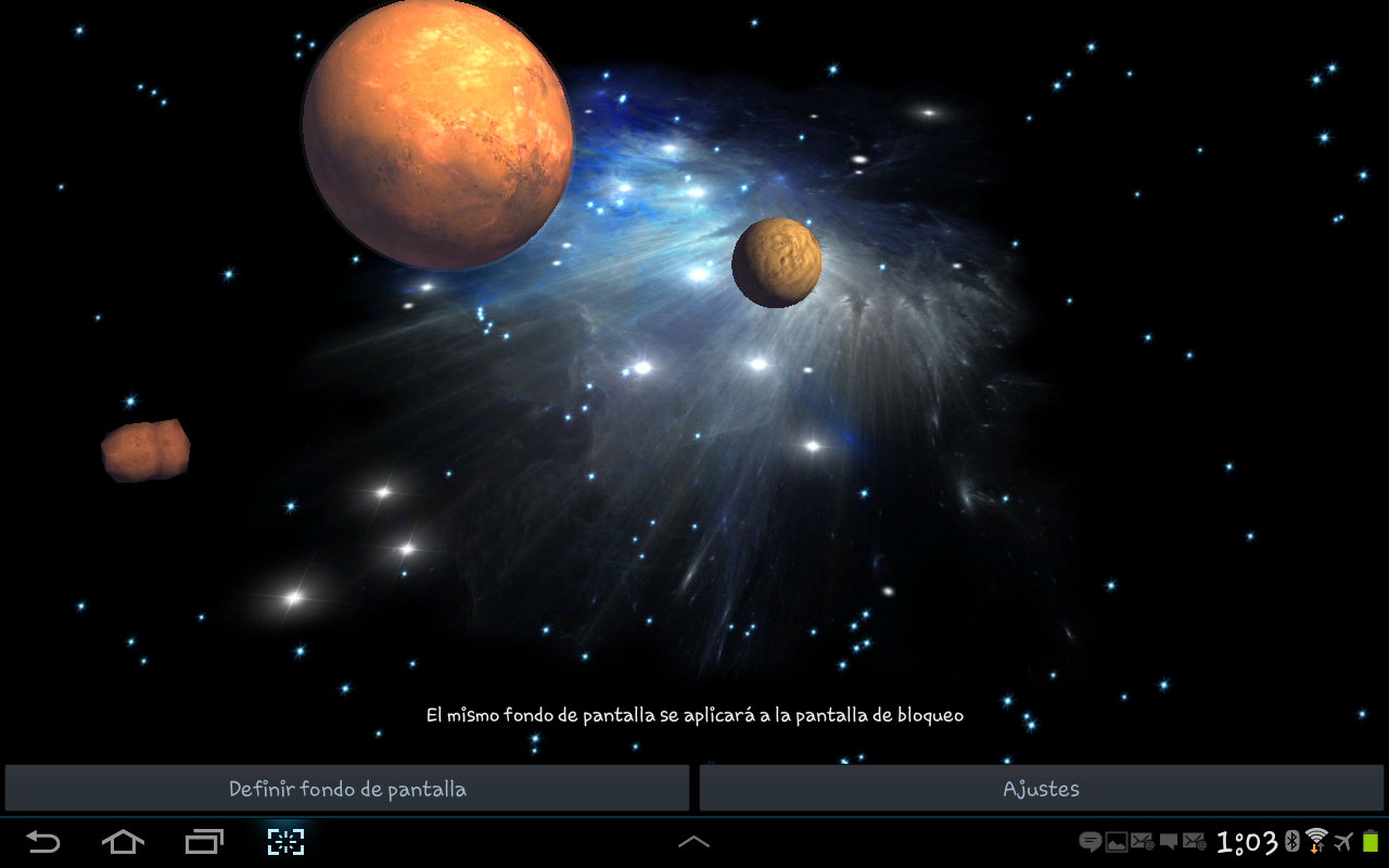 3D Galaxy Live Wallpaper Full - screenshot