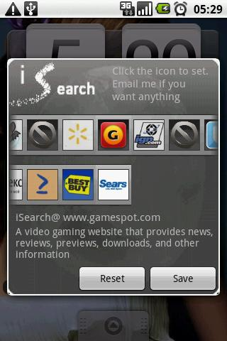 iSearch widget free - screenshot