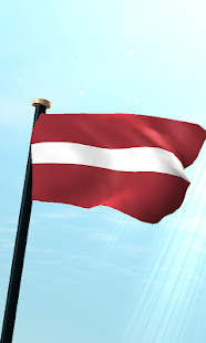 Latvia Flag 3D Free Wallpaper- screenshot thumbnail