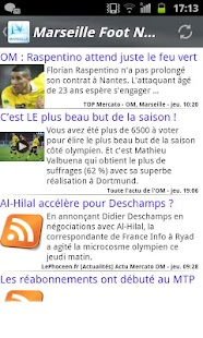 Marseille Foot News - screenshot thumbnail