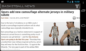 Screenshot of San Antonio Basketball News