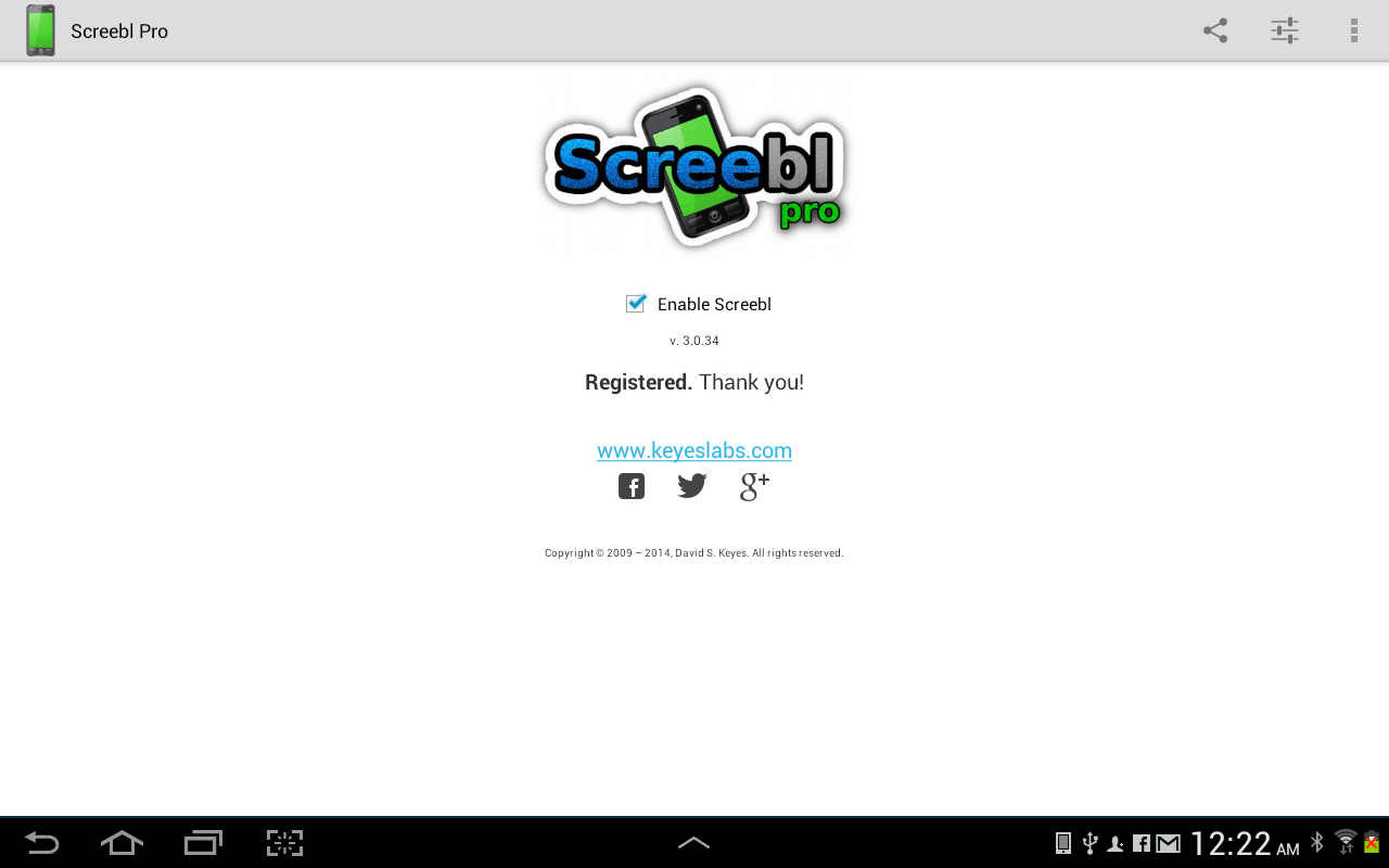 Screebl - Total Screen Control - screenshot