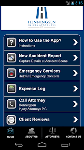 Henningsen Law Accident App- screenshot thumbnail