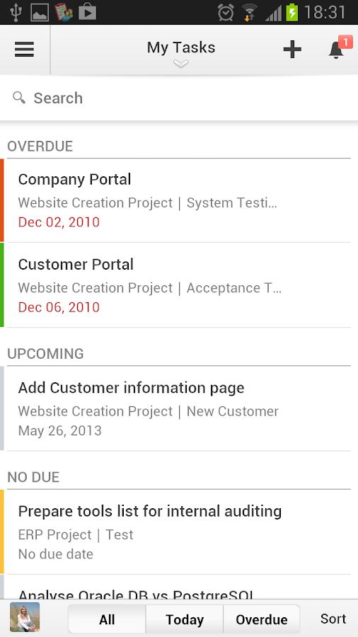 Zoho Projects- screenshot