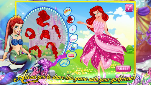 人鱼公主的礼服—经典美容 换装 化妆游戏