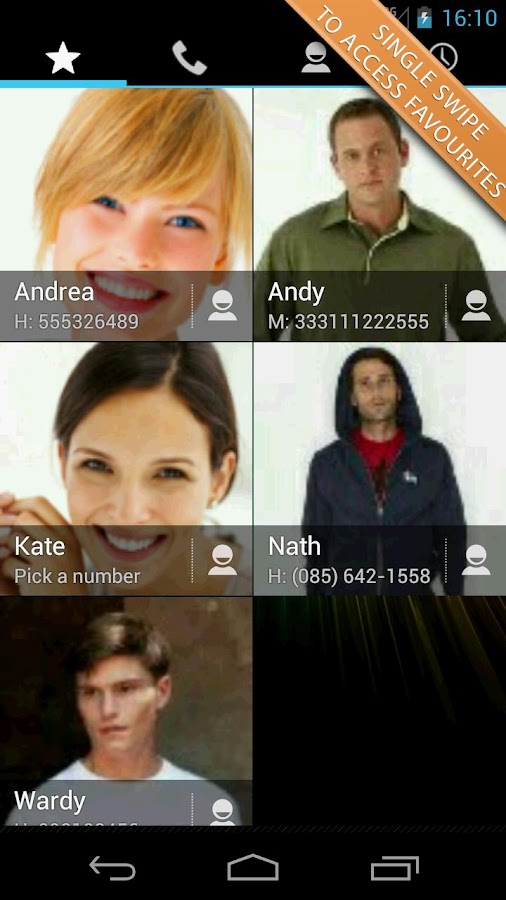 Swipe Dialer Free - screenshot