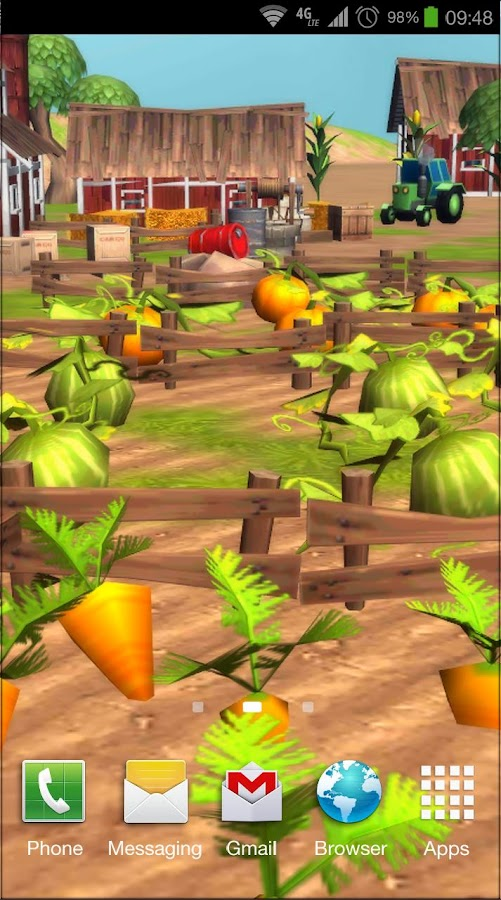 Cartoon Farm 3D Live Wallpaper- screenshot