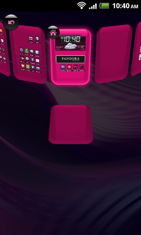 TSF Shell Theme Hot Pink HD - screenshot