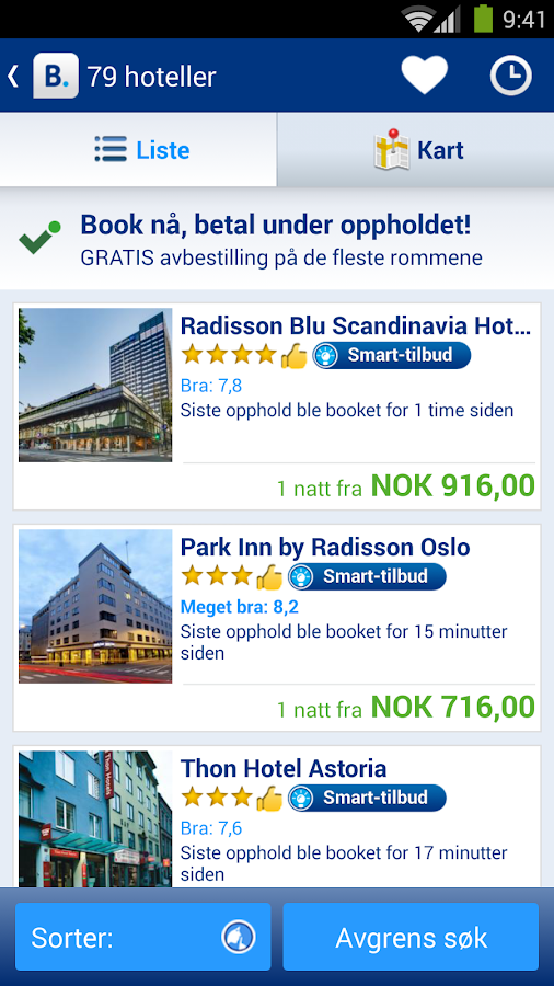 Booking.com–445 000+ hoteller - screenshot
