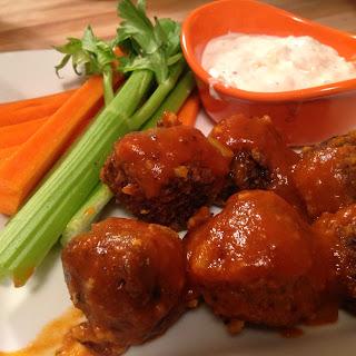 Buffalo Tempeh Meatballs