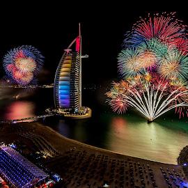 NYE Dubai by Jaideep Abraham - Public Holidays New Year's Eve ( guiness record, 2014, dubai, celebrations, uae, burj al arab, fireworks )