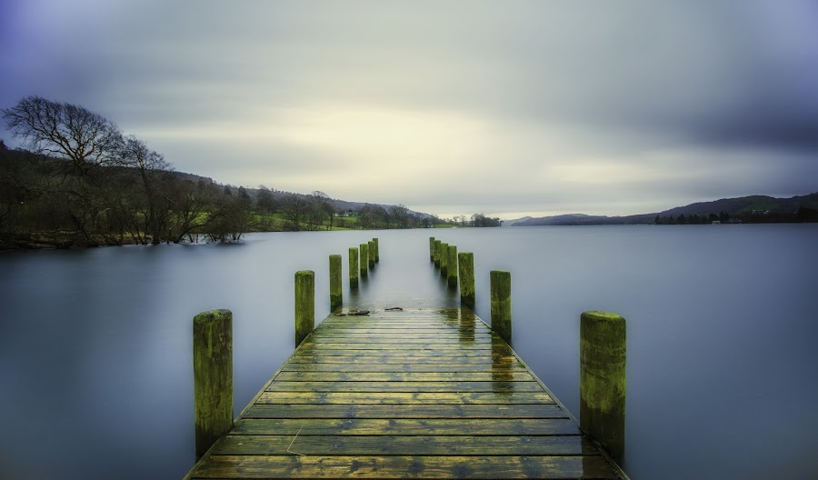 Coniston Jetty by Graham Kidd - Landscapes Waterscapes ( water, long exposure, lake district )
