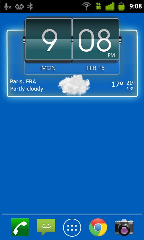 3D Flip Clock Theme Pack 04 - screenshot
