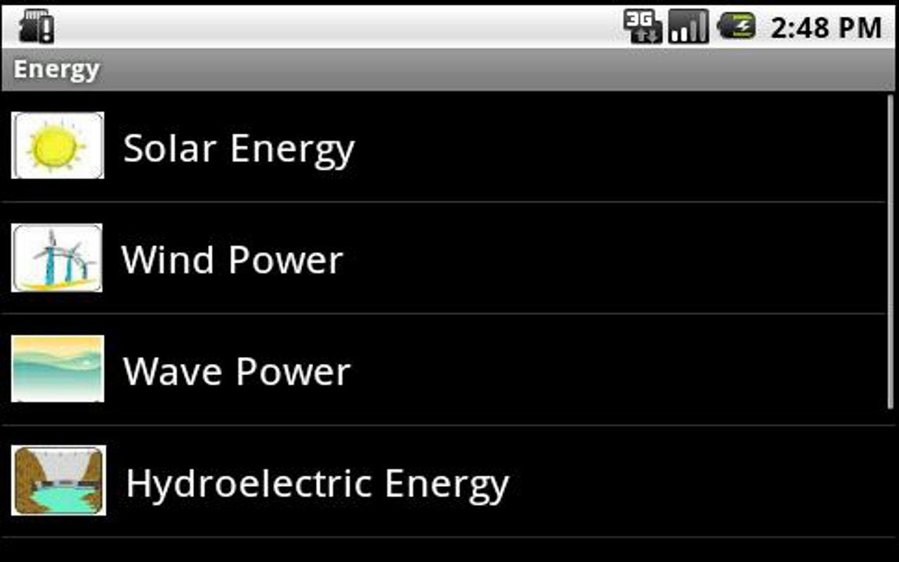 Energy sources, uses, savings!- screenshot