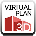Virtual plan 3D icon