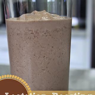 Chocolate Peanut Butter Banana Lactation Boosting Milkshake + Time for Mom.