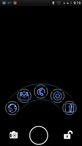 玩個人化App|Neon Blue GO EX / NOVA Theme免費|APP試玩
