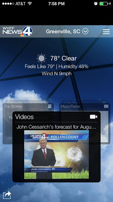WYFF 4 Weather - screenshot