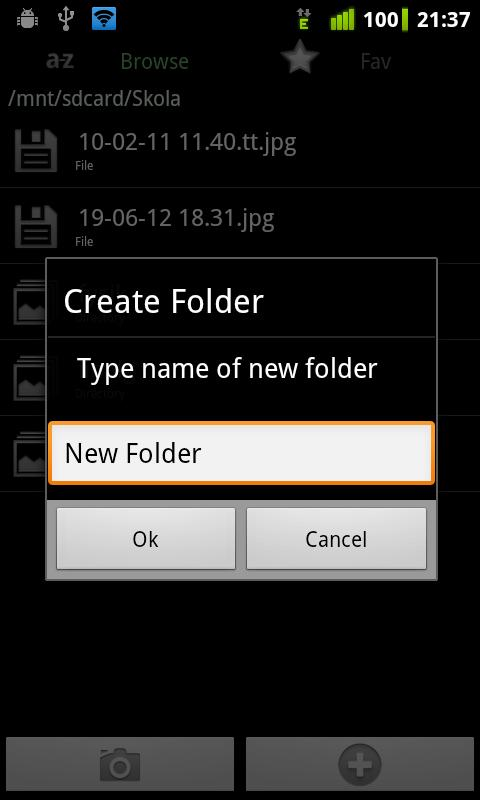 Camera Folders - screenshot