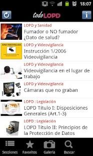 todoLOPD: miniatura de captura de pantalla