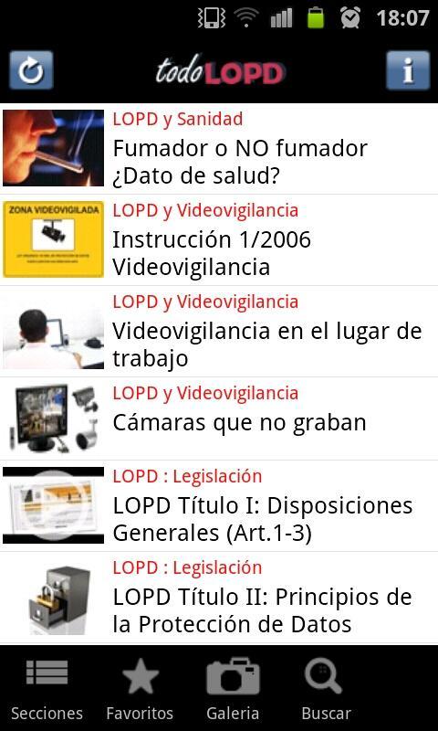todoLOPD: captura de pantalla