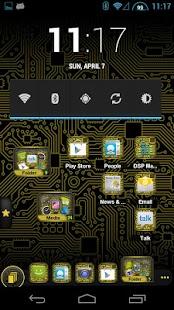 PCB Yellow HD TSF Shell Theme - screenshot thumbnail