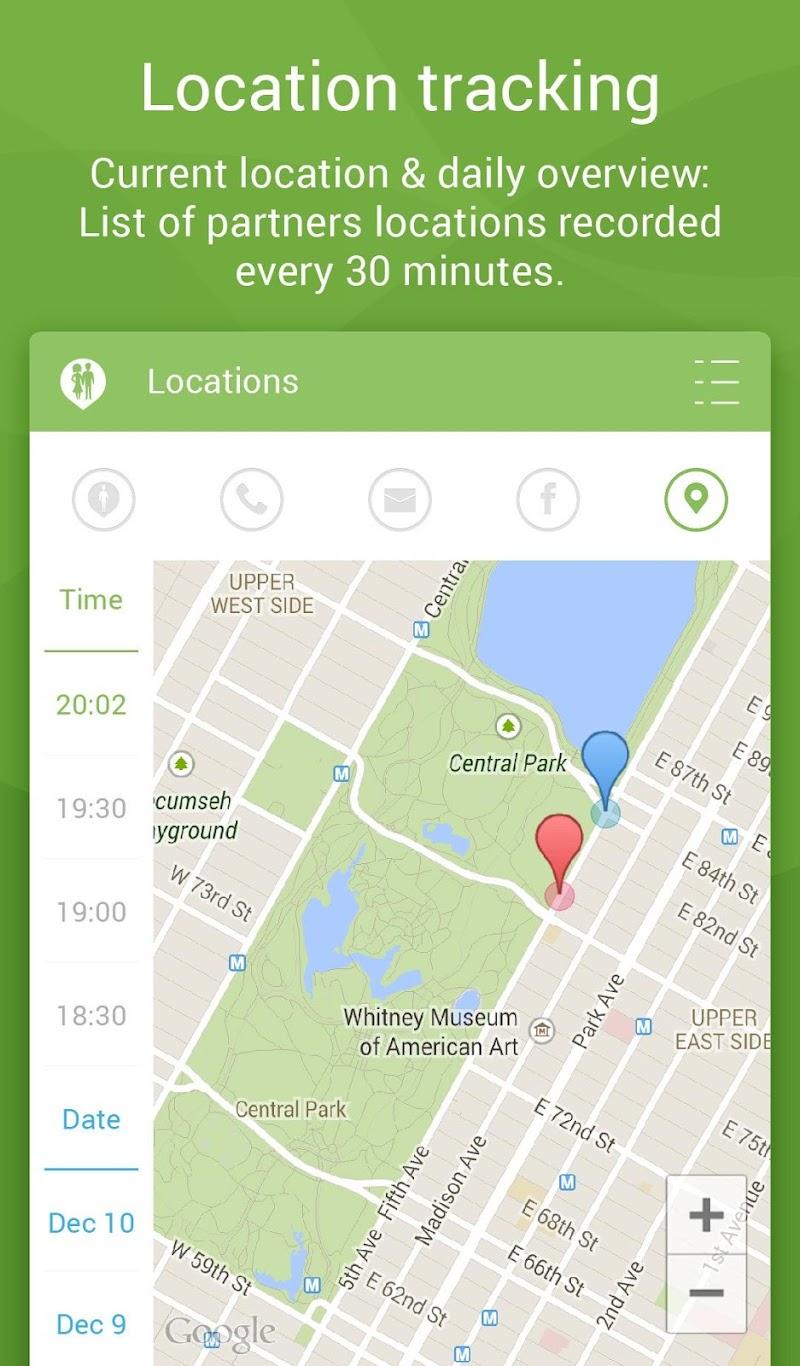 Couple Tracker Pro - Cell phone monitoring Screenshot 2
