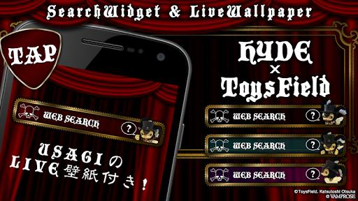 トイズフィールド×HYDE-うさぎライブ壁紙+検索アプリ♪